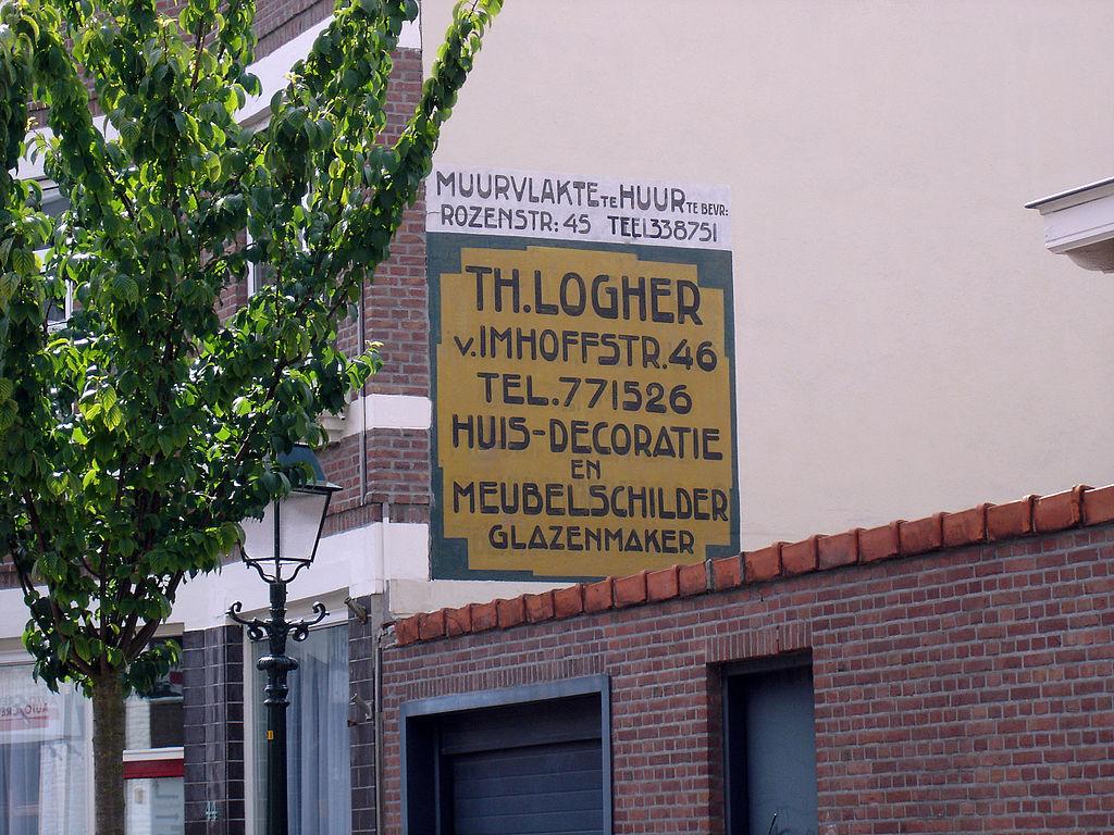 Muurreclame Johan van Hoornstraat 40-42, Den Haag.jpg