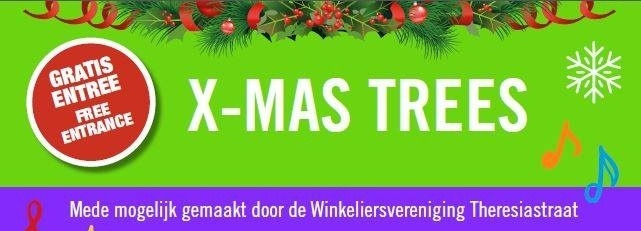 Ondernemers Theresiastraat verrassen ov-reizigers met zilveren 'Xmas Trees'